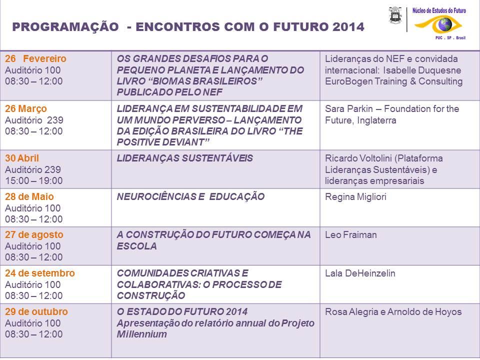 PROGRAMAÇÃO NEF 2014