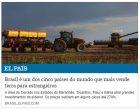 El País - Brasil é um dos cinco países do mundo que mais vende terra para estrangeiros - Ciro Barros (Agência Pública) - maio 2018 - 2p.