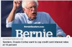 Sanders, Ocasio-Cortez want to cap credit card interest rates at 15 percent - The Washington Post - 2p.