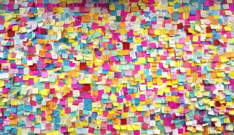 Wall of Post-it