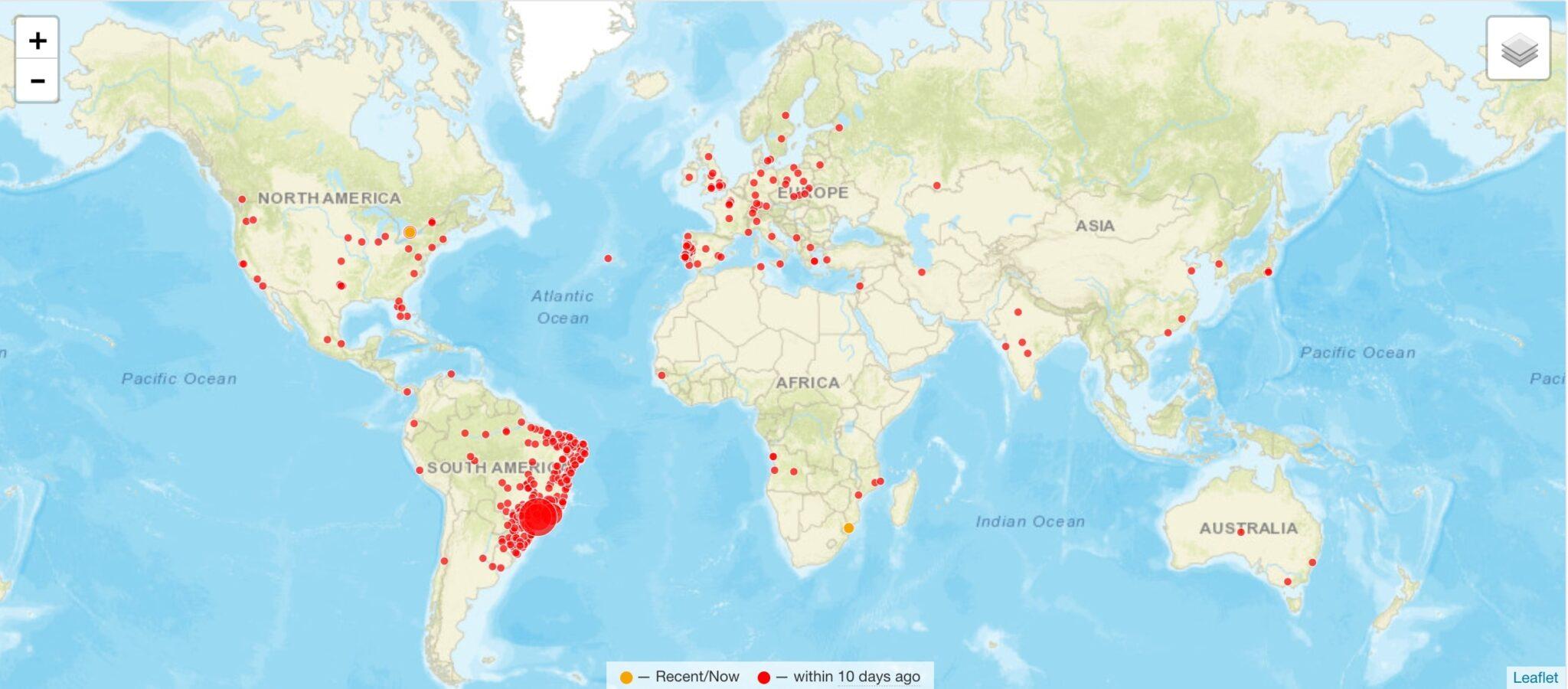 visitor map clustrmaps